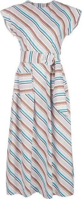 Isa Arfen Long striped dress