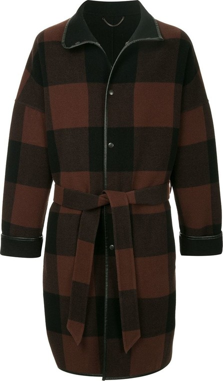 H Beauty&Youth Checked hooded coat