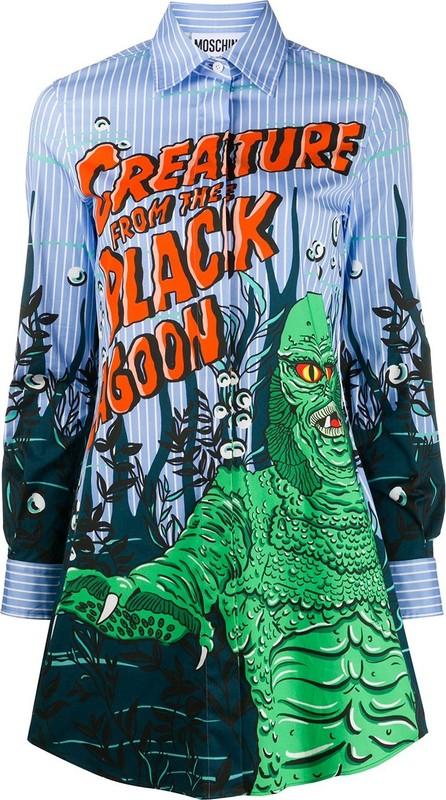 Moschino Creature from the black lagoon shirt dress