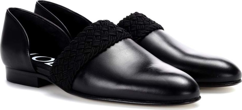 LOEWE - Leather loafers