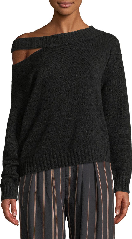 Vince - Off-the-Shoulder Slit Pullover Top