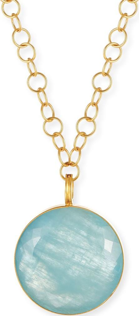 Dina Mackney Round Aquamarine Pendant