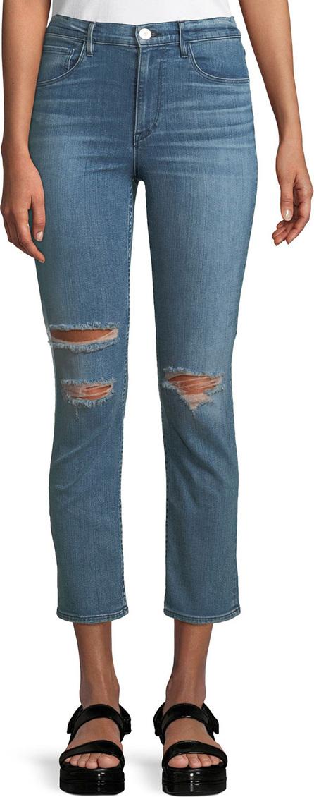 3X1 W4 Colette Distressed Straight-Leg Jeans