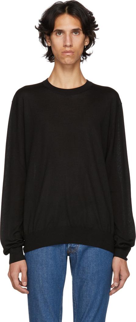 Brioni Black Basic Silk & Cashmere Sweater