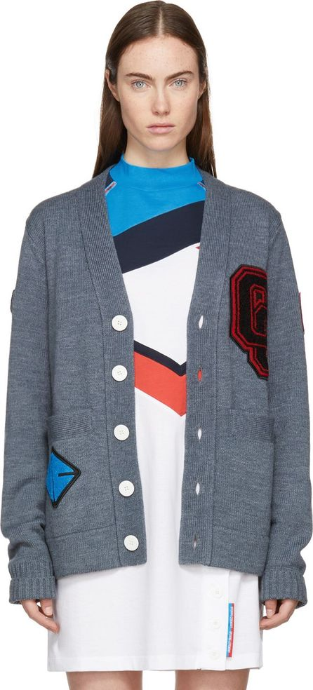 Opening Ceremony Grey Limited Edition Logo Varsity Cardigan