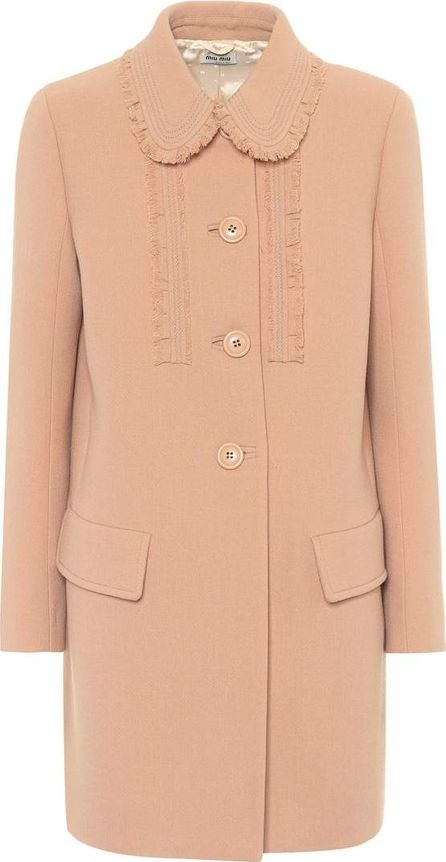 Miu Miu Virgin wool-crêpe coat