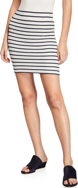 ATM Anthony Thomas Melillo Striped Micro Modal Mini Skirt