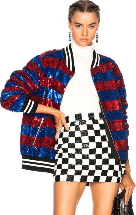 ASHISH Sequin Oversize Varsity Jacket