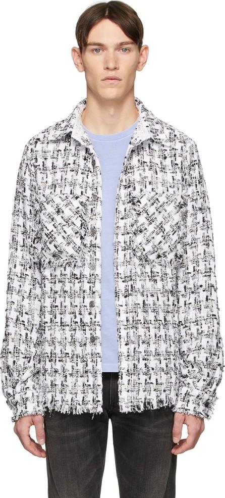 Faith Connexion SSENSE Exclusive White & Black Tweed Shirt