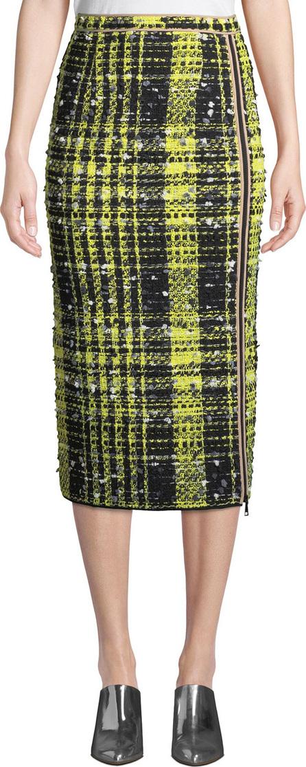 Nº21 A-Line Checkered Midi Skirt