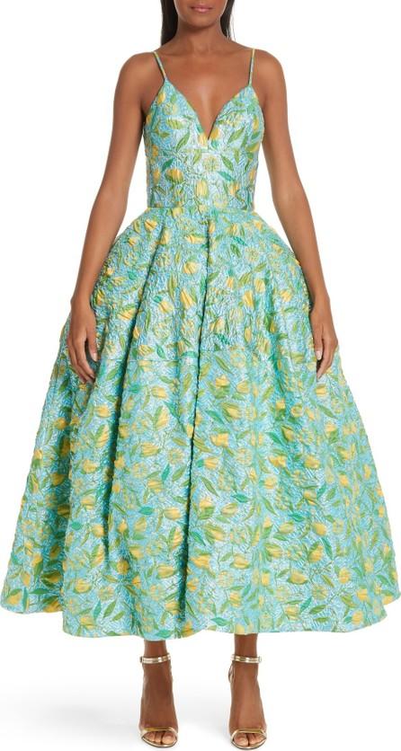Christian Siriano Floral Evening Dress