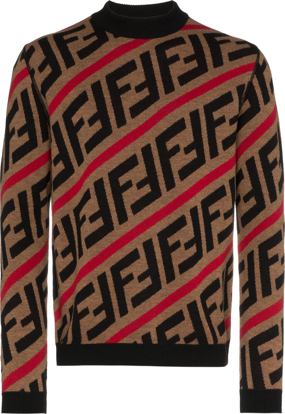 7648b0ac Fendi Logo intarsia knitted wool jumper - Mkt