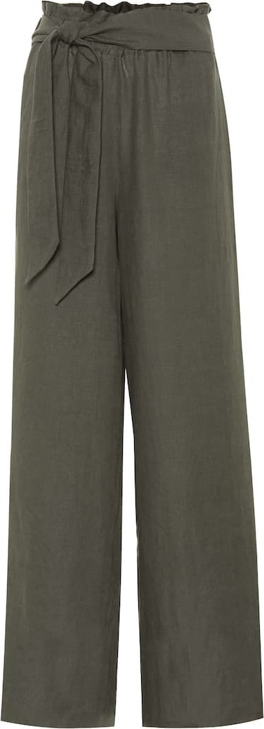 Asceno High-waisted linen pants