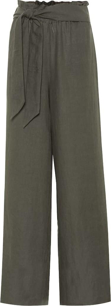 Asceno High-waisted linen pants
