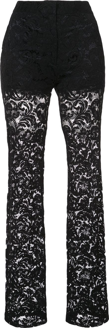 Adam Lippes short lined lace trousers