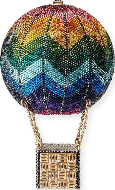 Judith Leiber Rainbow Hot Air Balloon Crystal Clutch Bag