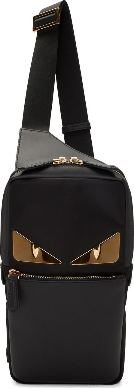 Fendi Black 'Bag Bugs' Golden Messenger Bag