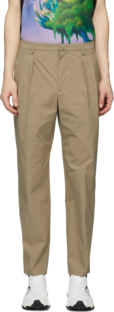 Valentino Beige Cotton Trousers