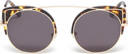 Stephane + Christian 'Quincy' contrast corner brow bar metal cat eye sunglasses