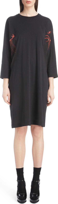 Dries Van Noten Inset Dolman Sleeve Jersey Dress