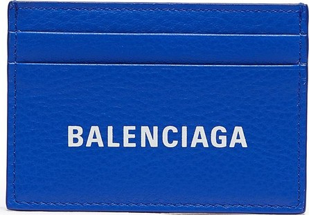 Balenciaga 'Everyday' logo print leather card holder