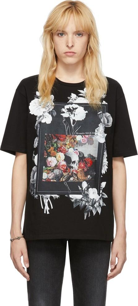 Alexander McQueen Black Floral Frame T-Shirt