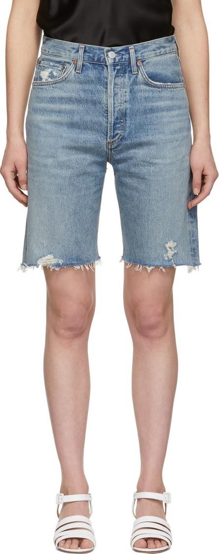 Agolde Blue Denim 90s Loose Fit Shorts
