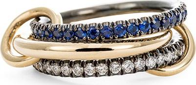 Spinelli Kilcollin 'Celeste Sapphire' diamond and sapphire 18k gold ring