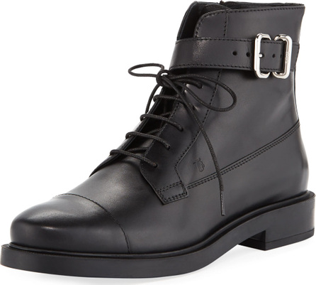 Tod's Lace-Up Leather Combat Boots
