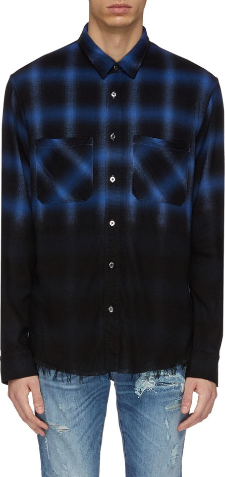 Amiri 'Forever' slogan appliqué windowpane check flannel shirt
