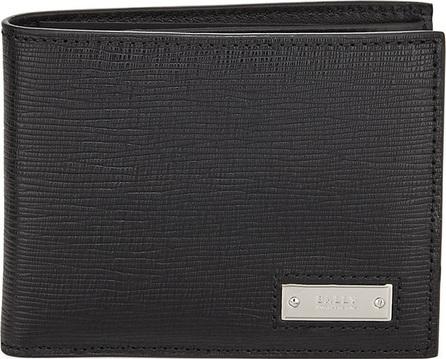 Bally Men's Bevye Embossed Leather Bi-Fold Wallet, Black