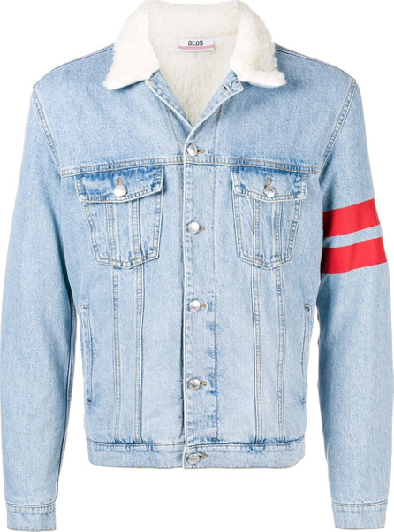 Gcds Logo print denim jacket