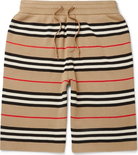 Burberry London England Striped Merino Wool Drawstring Shorts