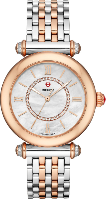 MICHELE Caber Diamond Bracelet Watch, 35mm