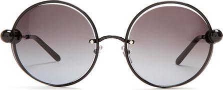 Marni Round lens bead arm sunglasses