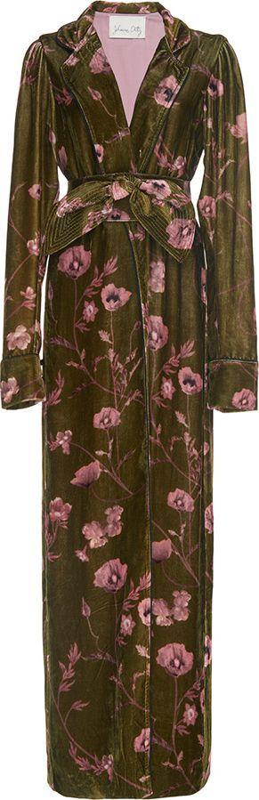 Johanna Ortiz Florari Belted Velvet Kimono Robe