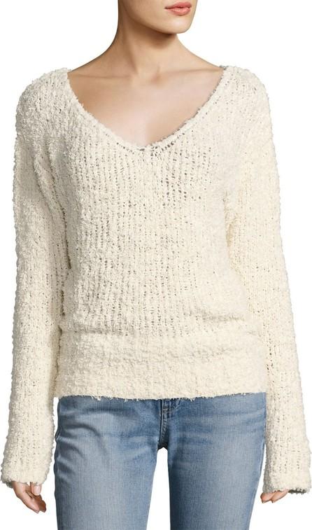 Elizabeth And James Wyatt Open V-Neck Pullover Sweater  Ivory