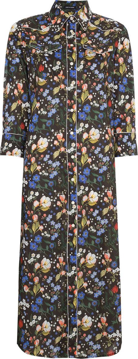R13 Floral print cowboy maxi dress