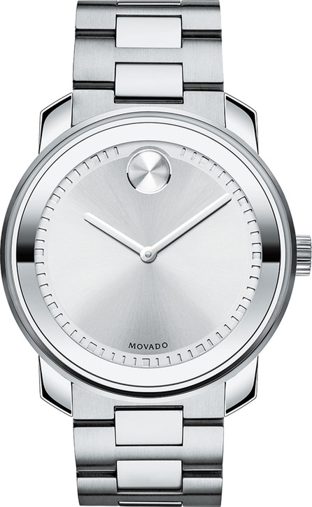 Movado 42.5 Stainless Steel Watch, Silver