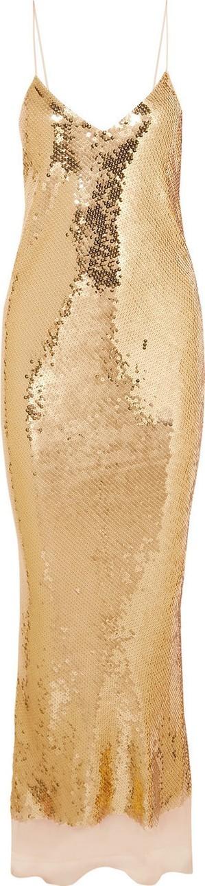 Stella McCartney Bernice Gold Dress