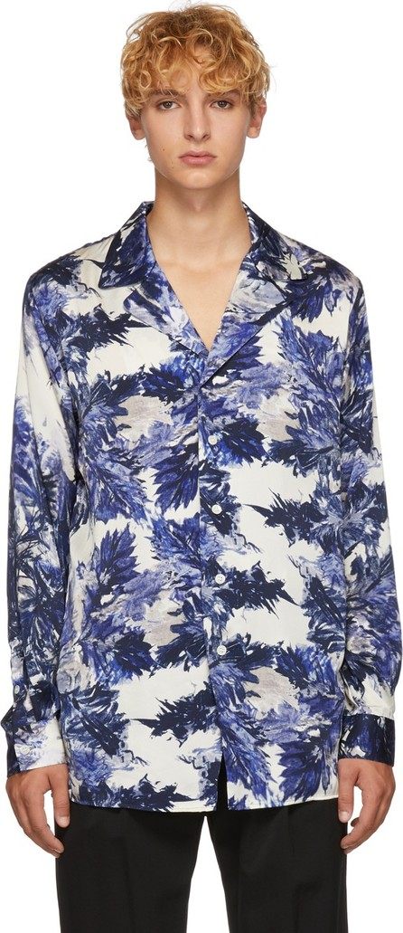 BED J.W. FORD Blue Gara Pattern Shirt