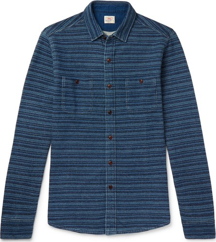 Faherty Striped Loopback Cotton-Jersey Shirt