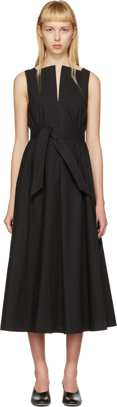 Lemaire Black Flared Dress