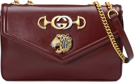 Gucci Linea Tiger Medium Leather Shoulder Bag