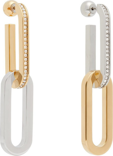 Crystal-embellished mismatched chain-link earrings Burberry gVZoRnmB2