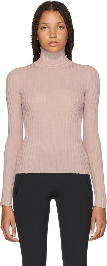 Emilio Pucci Pink Rib Turtleneck Sweater