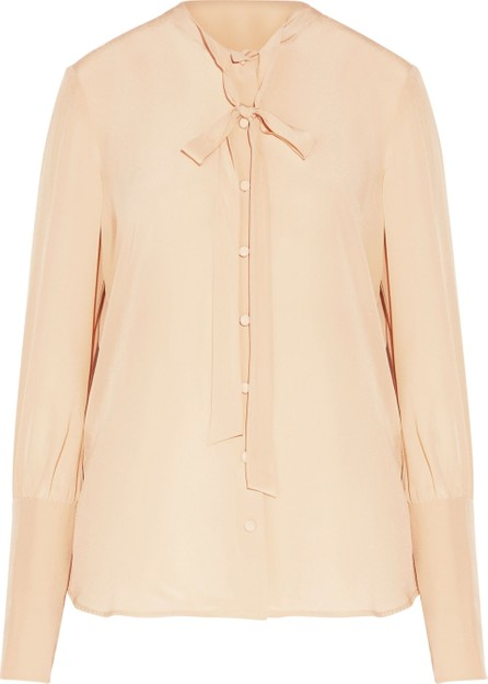 Belstaff Lucy pussy-bow washed-silk blouse