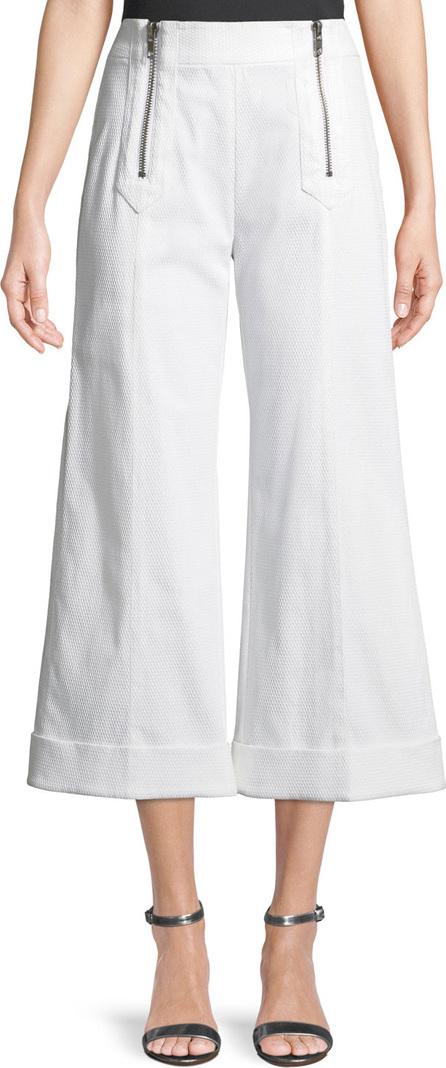 Nanette Lepore Paradise Island Textured Double-Zip Pants
