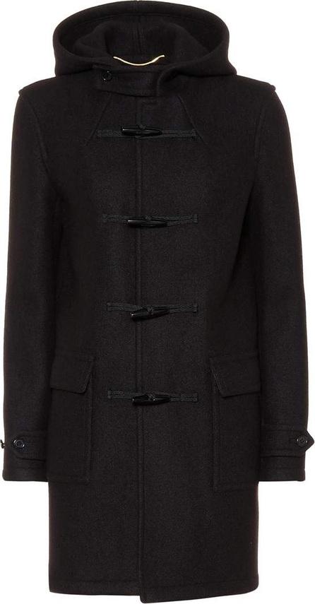 Saint Laurent Hooded wool toggle coat