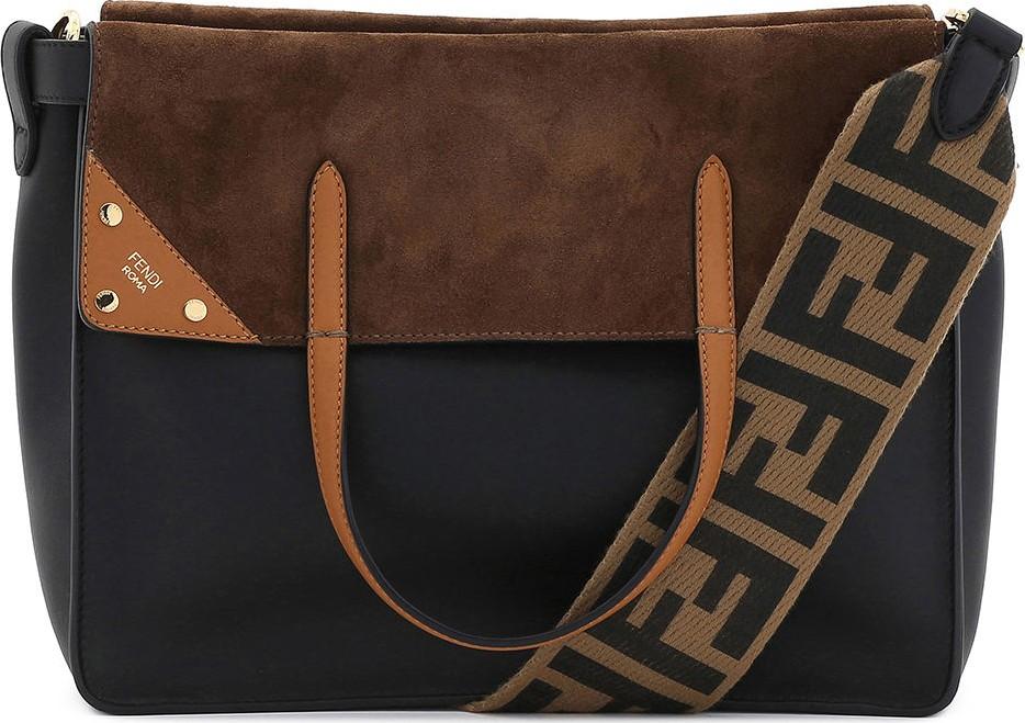 85d1bbf29e5e Fendi Flip Regular Grace Leather Tote Bag - Mkt
